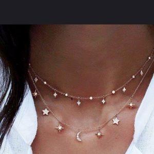 Gold Toned BOHO Gypsy Multi-Layer Necklace